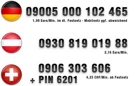 deutsche Hausfrauen für Telefonsex Nummern