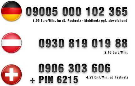 Nummern für Telefonsex mit einem Teen
